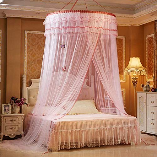 Cyfe Folding Portable Mosquito Net - Princess Wind Dome Mosquito Net for Quick and Easy Installation of Single Or King Size Beds - Best Hole, Bed Curtain Net, 1 Entrance, No Chemicals Added