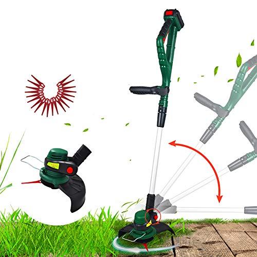 CRZJ Multi-Función del césped Gradas, Wireless eléctrica cortadora de césped, Litio del...
