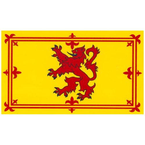 Flagge des schottischen Königtums / Lion Rampant, roter steigender Löwe, 153x91cm, Rot / goldfarben