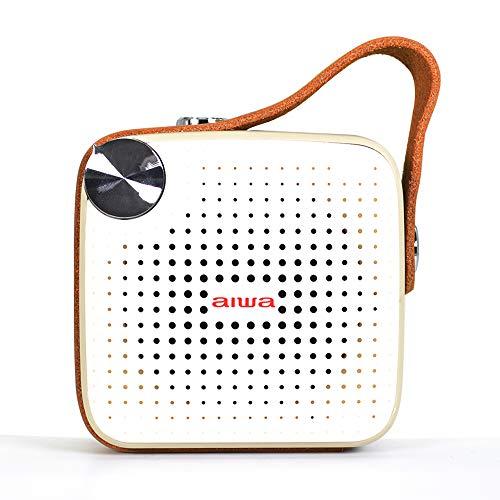 Aiwa Square BS-100GY: Altavoz portátil con Bluetooth, microSD, FM, Resistente al Agua,...