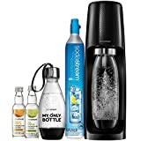 SodaStream Fizzi Sparkling Water Machine Bundle (Black), with CO2, 1/2 Liter BPA-Free My Only...