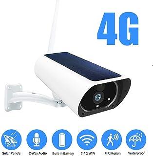 Cámara Solar Al Aire Libre 1080p HD Inalámbrica 3g Tarjeta Sim Cámara CCTV Vigilancia De Seguridad Batería Recargable Incorporada 4g LTE Versión WiFi