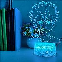 Tatapai 3DナイトライトイリュージョンLedランプ子供用装飾ランプ西野屋秀樹YUU3DLedアニメランプイリュージョンナイトライトLed寝室の装飾用テーブルランプ