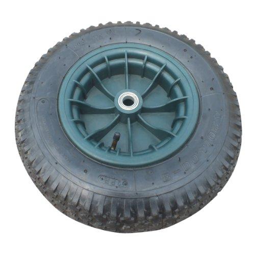 Xclou Garden 340500 Ersatz, Rad für Schubkarre oder Handwagen, Reifen aus Gummi, ca. 40 x 10 cm, schwarz