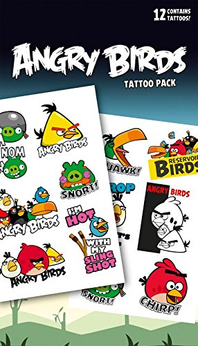 Official Angry Birds Temporary Tattoos (tatuajes temporales)