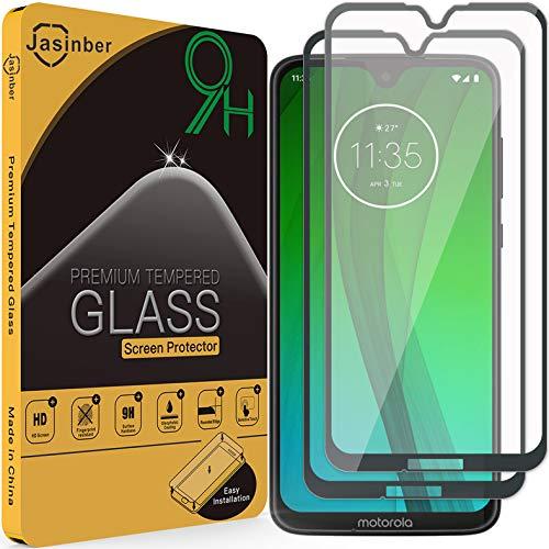 Jasinber 2-Pack Mica Vidrio Cristal Templado Protector de Pantalla para Motorola Moto G7 / G7 Plus…