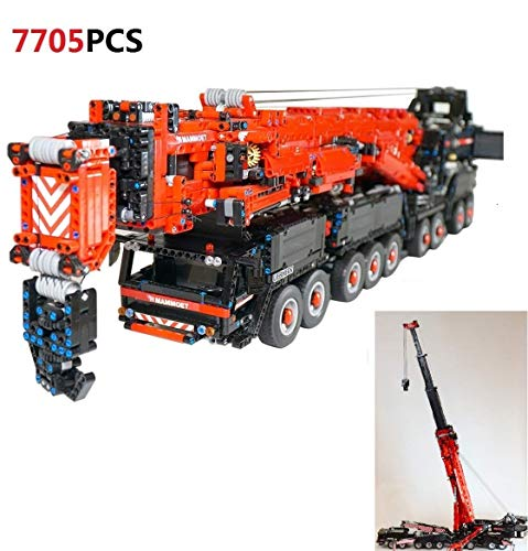 TETAKE Technik Liebherr LTM11200 V2 Kran Modell, Technic Kranwagen Modellbausatz mit 7692 Teilen, Schwerlastkran Konstruktionsspielzeug, Großes Kran-LKW MOC Custom Bausteine