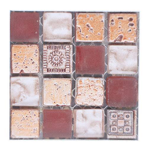 Geschikte tegelsticker, tegelsticker wandoppervlak 10x10cm vloer sticker stickers met PVC