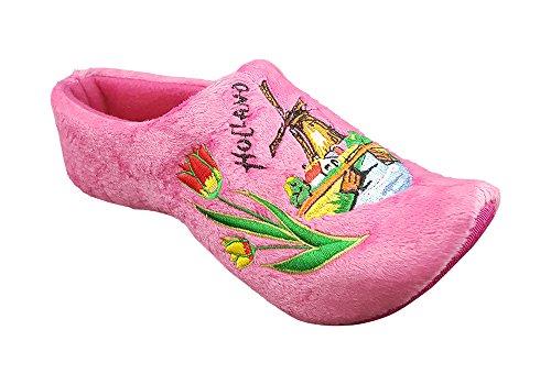 MB Clogs Original Holländische Hausschuhe Damen in rosa