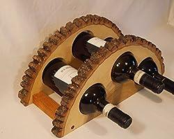 wood slice art ideas ~ wine bottle holder