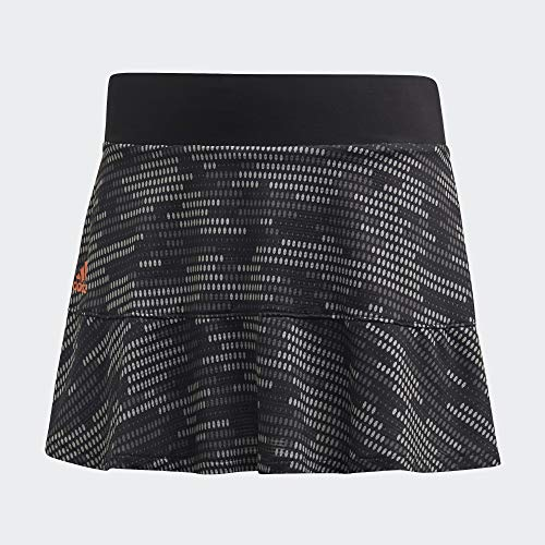 adidas CAM Skrt P.Blue Falda, Mujer, Negro/Naraut, 2XS