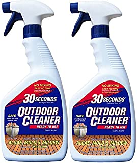 30 SECONDS Outdoor Cleaner, (1 Quart-Ready-to-Use with Trigger Sprayer 2Pk)