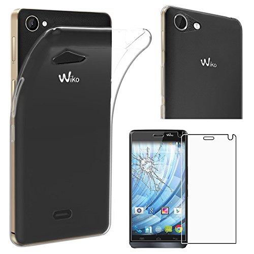 ebestStar - kompatibel mit Wiko Getaway Hülle Handyhülle [Ultra Dünn], Premium Durchsichtige Klar TPU Schutzhülle, Soft Flex Silikon, Transparent +Panzerglas Schutzfolie [Phone: 143x69.5x7.2mm 5.0