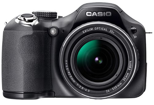 Casio Exilim EX-FH20 Highspeed Digitalkamera (9 Megapixel, 20-Fach Opt. Zoom, 7,6 cm Display, HD-Video)