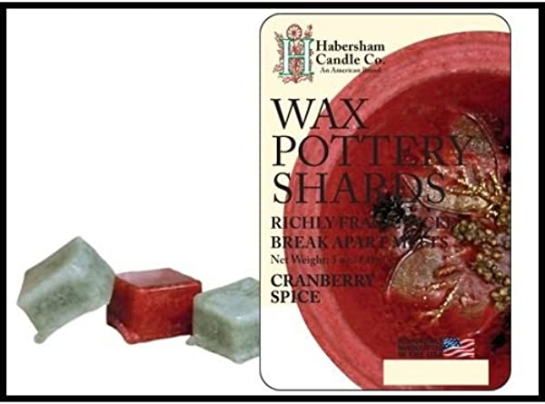 Habersham Cranberry Spice Wax Pottery Shards Melts