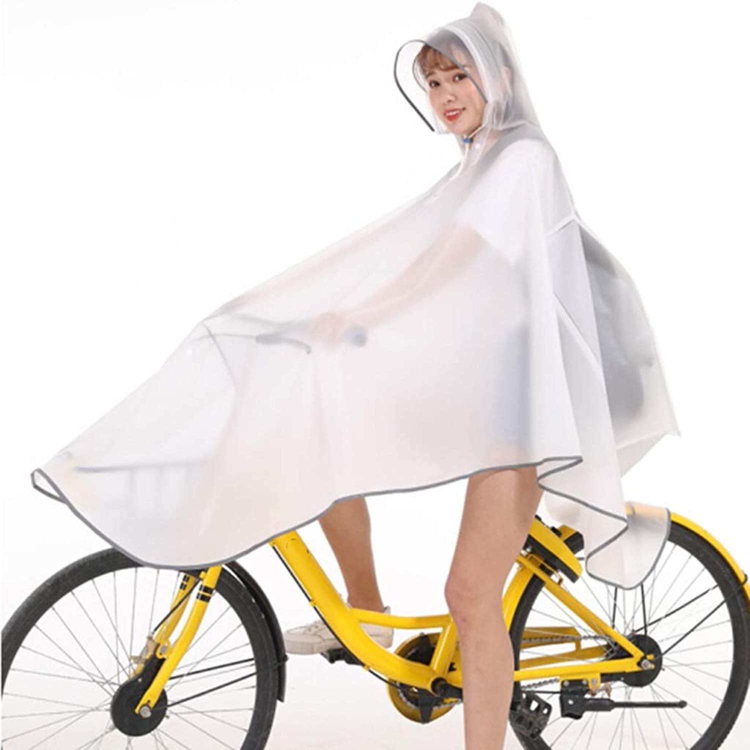 Bicycle Raincoat  EVA Poncho Waterproof Hooded Shirt for Men and Women Riding Rain Cover Outdoor Activity Neckline Adjustable