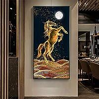 大人のためのダイヤモンド絵画セット、5D DIYダイヤモンドアートキット星空の馬、家の壁の装飾のためのダイヤモンドでペイント40 * 80cm