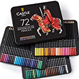 Castle Art Supplies - Set di 72 matite acquarellabili per adulti e professionisti, con min...