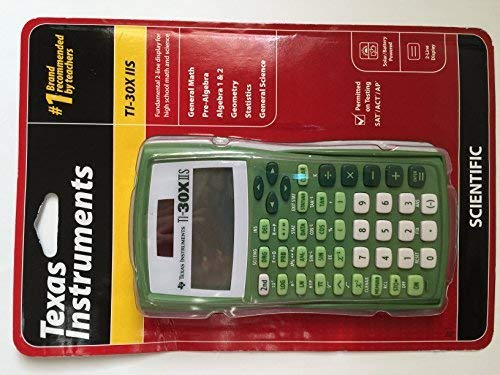 Texas Instruments TI-30X IIS 2-Line Solar/Battery-Powered Scientific Calculator, Lime Green, Model:, Gadget & Electronics Store