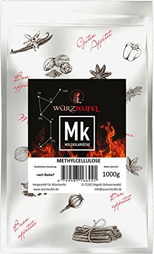 Methylcellulose, MC, Gelier- und Verdickungsmittel, E 461. Molekulare Küche. Beutel 1000 Gramm.