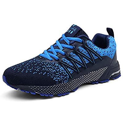 SOLLOMENSI Mens Womens Running Shoes Trainers Sports Gym Walking Jogging Athletic Fitness Outdoor Sneakers 9.5 UK A Blue