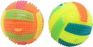 OPAKY LED Voleibol Parpadeante Luz Arriba Rebotando Erizo Bola Niños Juguete Cambio de Color Juguetes Educativos Regalos Originales Juguetes antiestrés
