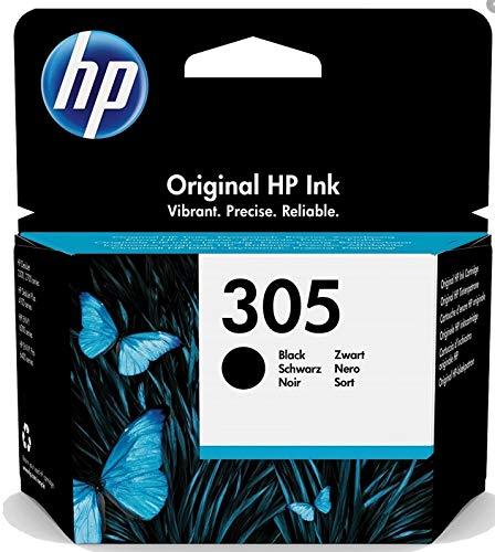 HP 305 3YM61AE, Schwarz, Original-Tintenpatrone, kompatibel mit HP DeskJet 2700, 4100, Envy Serie 6020, 6030, 6420, 6430