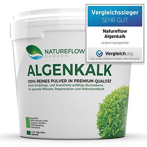 TESTSIEGER Algenkalk Pulver für Buchsbaum – Widerstandskraft und Regeneration für anfällige Buchsbäume (z.B. Buchsbaumzünsler) - Premium-Qualität aus Island - Natürliche Alternative Garden (10 kg)
