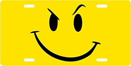 Best smiley face license plate Reviews