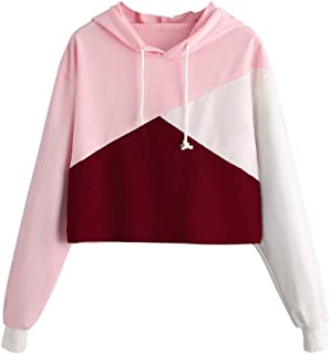 Cute Womens Sweatshirt,KIKOY Girls Long Sleeve Hoodie Tops Pullover Blouse Sale