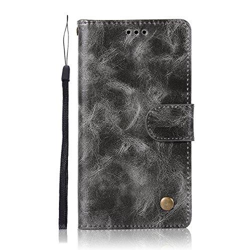 Sunrive Hülle Für Lenovo Moto G4 Play, Magnetisch Schaltfläche Ledertasche Schutzhülle Etui Leder Hülle Cover Handyhülle Schalen Handy Tasche Lederhülle(N-Dunkelbraun)+Gratis Eingabestift
