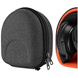 Geekria UltraShell Case Compatible with Bose QuietComfort QC35 II, QC35, QC25 Headphones, Replacement Protective Hard Shell Travel Carrying Bag with Cable Storage (Dark Grey)