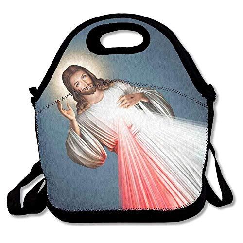 Divine Mercy - Bolsa de almuerzo decorativa portátil con correa ajustable para el hombro