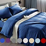 SONORO KATE Bed Sheet Set Super Soft Microfiber 1800 Thread Count Luxury Egyptian Sheets Fit 18-24 Inch Deep Pocket Mattress Wrinkle and Hypoallergenic-6 Piece (Navy Blue, King)