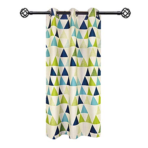 AliFish 1 Panel Geometric Triangle Pattern Thermal Insulated Semi-Blackout Curtains Room Darkening Children's Study Room Curtains for Boys Girls Kids Room Grommet Process W39 x L84 inch