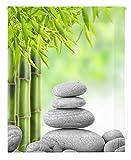 HappyStor HSCZ5905 Estor Enrollable Estampado Digital Zen Tejido Traslúcido Medida Total Estor:130x180 (**Solo Ancho Tela:126-127cm.**)
