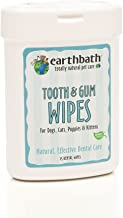 EARTHBATH 026362 25 Count Tooth and Gum Wipes for Dogs, Cats, Puppies and Kittens (2 Pack)