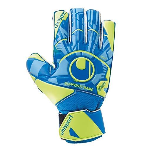 uhlsport Unisex– Erwachsene Control Soft SF JUNIOR Torwarthandschuhe, Fußballhandschuhe, Radar blau/Fluo gelb/schw, 4