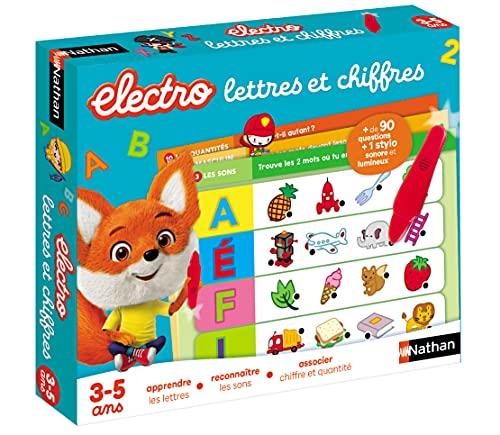 Nathan Electro Lettres et Chiffres-Jeu éducatif électronique pour les enfants de 3 à 5 ans, 31618