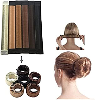 JJMG NEW 6pcs Bun Maker DIY Women Girls Perfect Hair Bun Making Styling French Twist Donut Bun Hairstyle Tool - 6 shades: Blond, Chestnut Color to Brunette