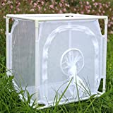 """Monarch Butterfly Habitat Cage, Outdoor Insect Mesh Cage Terrarium 16"""" x 12"""" x 16"""""""