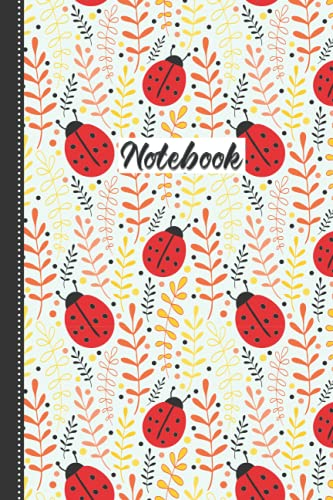 Ladybug Notebook: Cute Baby Ladybug Blank Lined Notebook: 110 Pages 6x9' Ladybug Workbook For Teens Kids Students Girls For Home School College Writing Notes