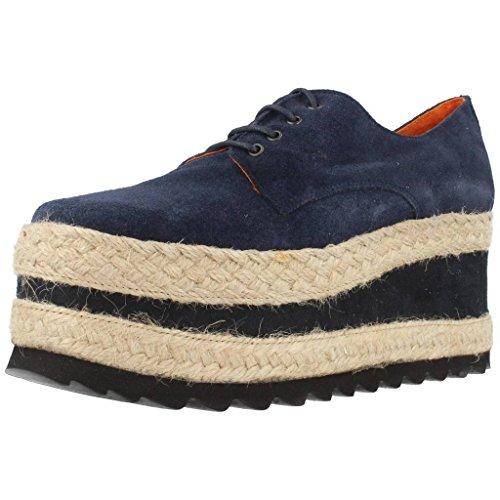 Jeffrey Campbell Damen Halbschuhe Derby Schuhe HIPNOSIS Blau 38 EU