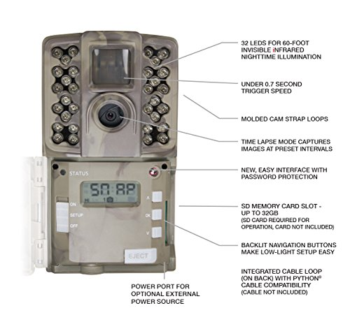 Moultrie (2017) Game Camera   All Purpose Series   0.7s Trigger Speed   Moultrie Mobile Compatible