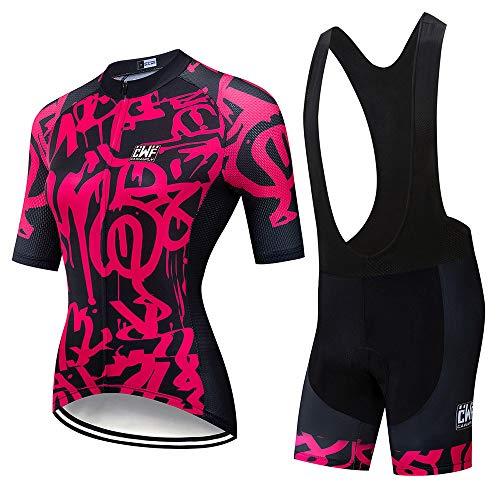 Ambiguity Maillots Ciclismo Hombre Conjunto Ropa Ciclismo para Mujer MTB Bike Cycling Jersey & Bike Shorts Kit Maillot Ciclismo Traje Ciclismo para Mujer