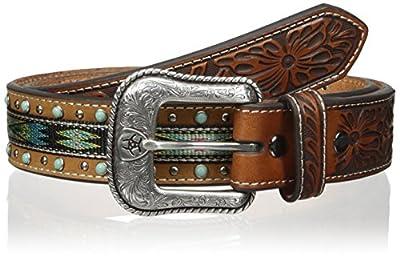 Ariat Men's Studded Turquoise Ribbon Belt