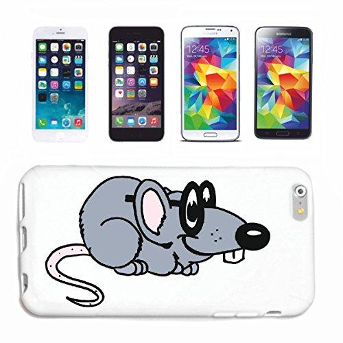Reifen-Markt Funda para teléfono móvil compatible con Samsung Galaxy S7, diseño de rata con gafas