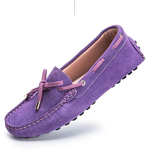 WLJSLLZYQ Frühling und Sommer Erbsen Schuhe/Flache Schuhe für Damen/Athletic Laufwerk Schuhe/Sportschuhe/Flache Schuhe-D Fußlänge=22.3CM(8.8Inch)