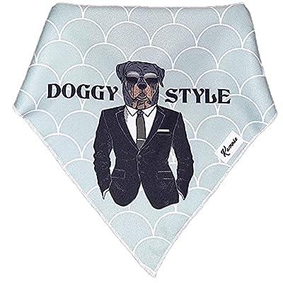 Kamose Dog Bandana For Medium and Large Dogs 1PC Neck Scarf, Dog Clothing & Accessories for Dogs, Dog Neckerchief Gift, Funny Dog Birthday Present (Medium)