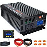 aeliussine 1000 watt Pure Sine Wave Inverter 12v dc to ac 120v with LCD Displaywith Remote Switch Power Inverter for Car Off Grid...